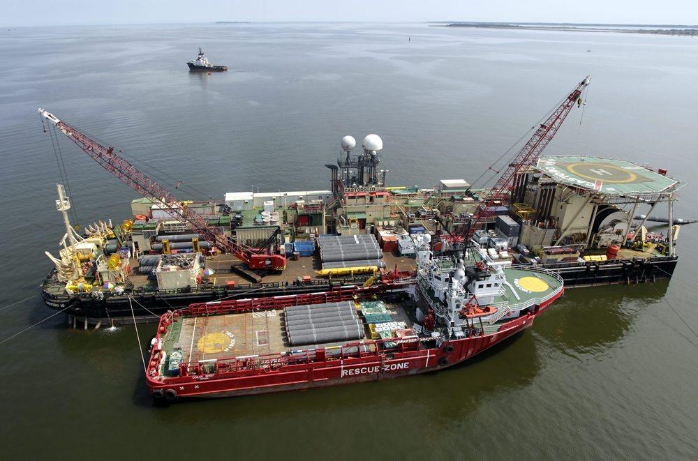 Pipelinebau auf der Ostsee
