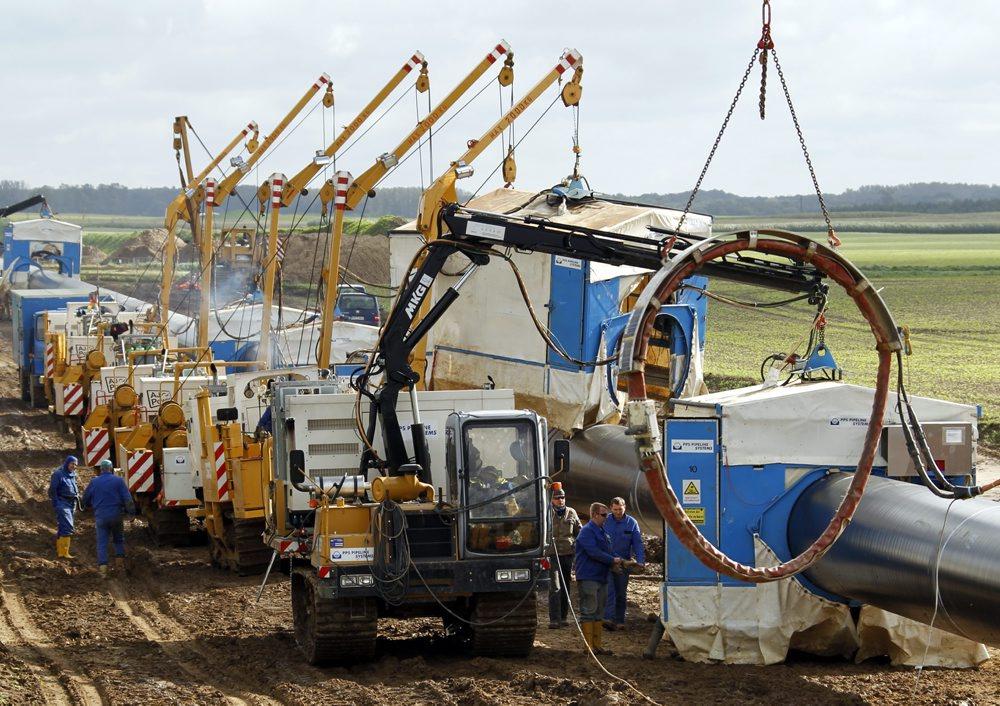 Bau der NEL-Pipeline