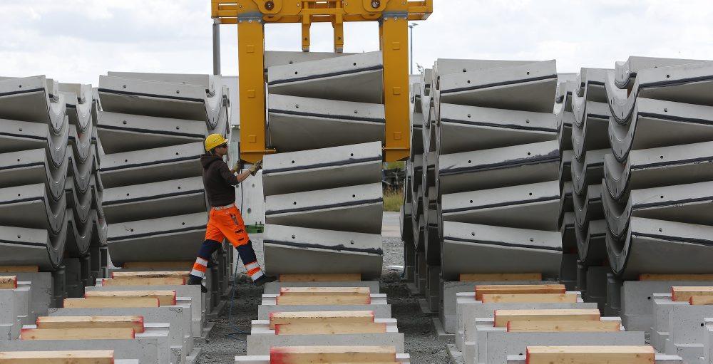 Teile für Metro-Tunnel
