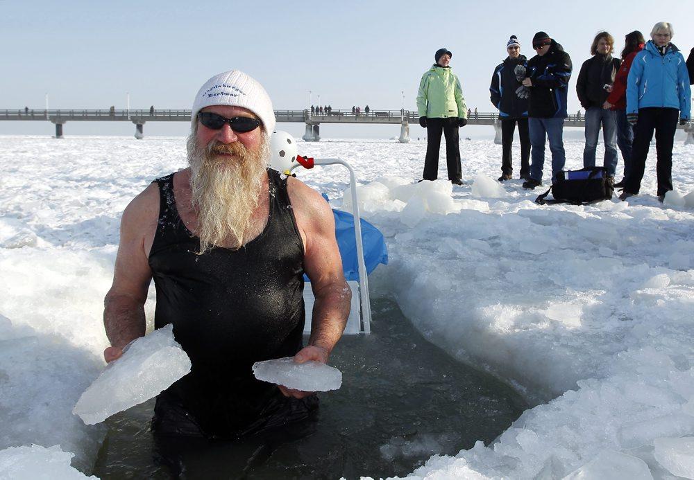 Eisbader auf Usedom