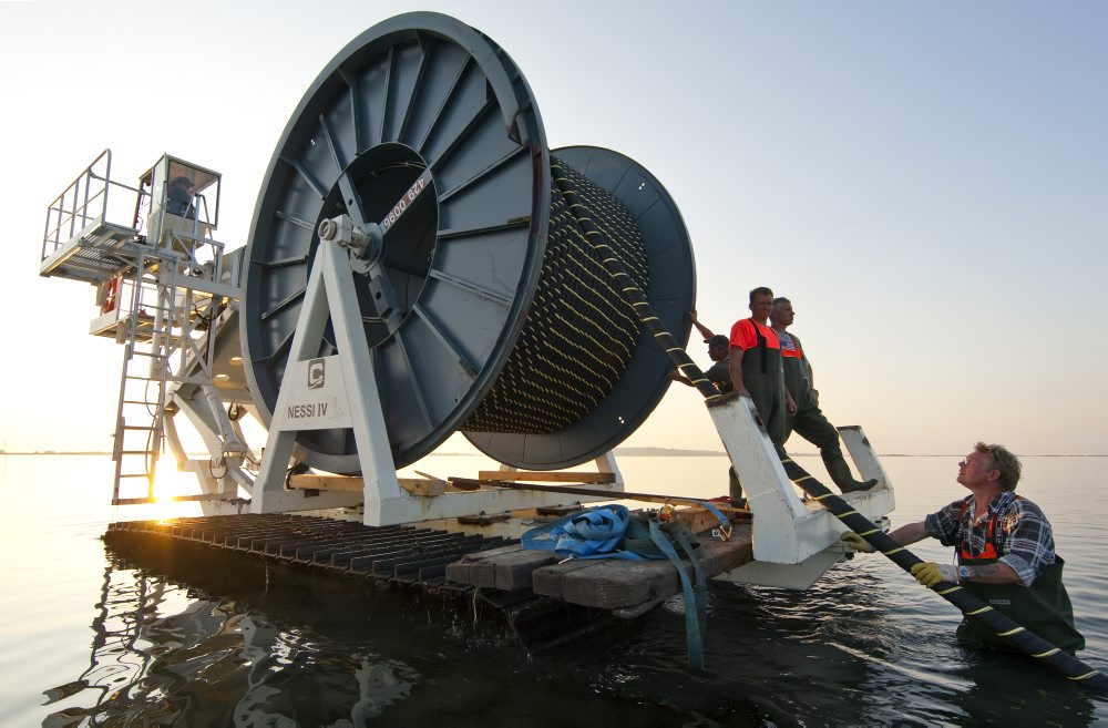 Verlegung eines Seekabels