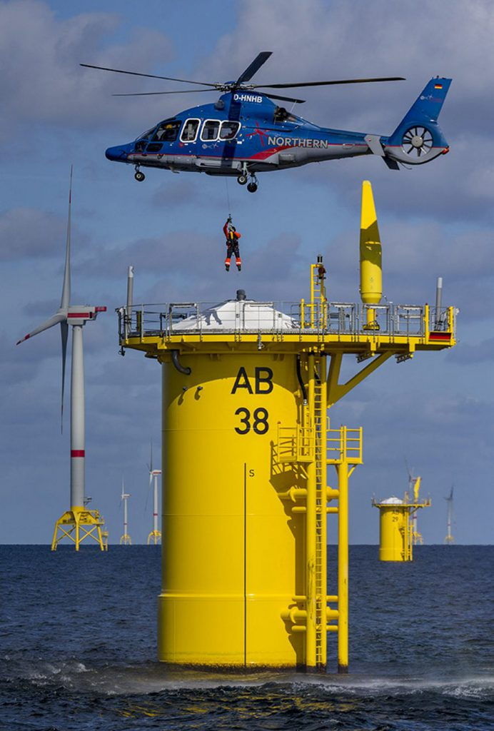 Rettungsübung auf See